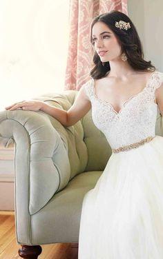 Tulle Skirt Illusion Lace Wedding Separates   Martina Liana