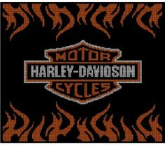 Harley Davidson Crochet Afghan Pattern Graph, $5.00... Pattern now available in MS Excel Format for easier following. More patterns available soon in this easier format!!!