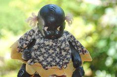 """Vintage Made In Japan Black Americana Doll 3.5"""" Hair Ties"""