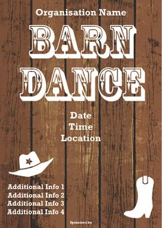 Barn dance poster idea.
