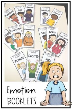 Emotion and feelings booklets. Autism, asd, social skills and social emotional learning. Coping Skills Activities, Preschool Learning Activities, Speech Therapy Activities, Learning Skills, Life Skills, Social Skills Autism, Social Emotional Learning, Behavior Interventions, Behavior Analyst