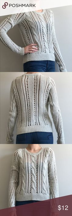 NWOT Abercrombie & Fitch knit sweater NWOT abercrombie & Fitch cable knit sweater in light grey. Super soft and comfy, never worn. Abercrombie & Fitch Sweaters