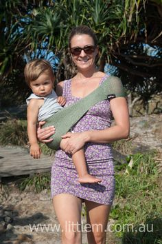leave your #pram behind....make a trip to the #beach easy and take your #SUPPORi #baby sling #babycarrier #babysling #babywearing #breathablecarrier