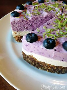 Blueberry Lime Vegan Cheesecake | Pretty Pies