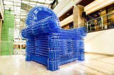 recycled artwork  arte con material descartado