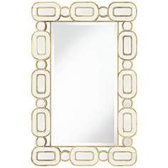 "Dietrich Gold Leaf 27 1/2"" x 42"" Oval Edge Wall Mirror"