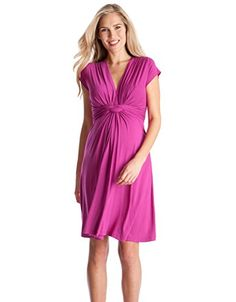 Seraphine Jolene Knot Front Maternity And Nursing Dress - Short Sleeve - Fuchsia - 10 Seraphine http://www.amazon.com/dp/B00BMQ27G6/ref=cm_sw_r_pi_dp_922-ub0ZA4Q33