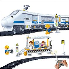 74.85$  Watch here - http://ali0gr.worldwells.pw/go.php?t=32558010868 - 8221 Remote Control toys train station 662pcs  RC Transport Plastic classic toys Model Building Block Sets kids Toys 74.85$