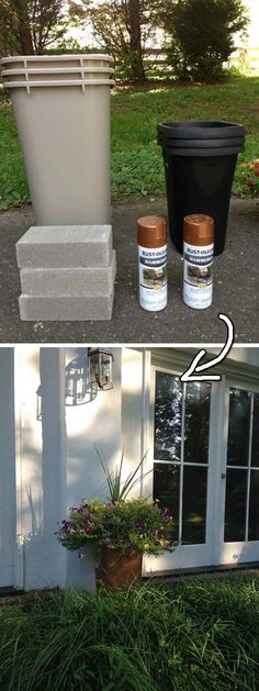 diy projects DIY Large Outdoor Planters for a bargain! & 29 Cool Spray Paint Ideas That Will Save You A Ton& PAK The post DIY Large Outdoor Planters for a bargain! & 29 Cool Spray Paint Ideas That Will Save You A Ton& appeared first on Diy and crafts. Diy Simple, Easy Diy, Easy Crafts, Easy Home Decor, Cheap Home Decor, Outdoor Projects, Diy Projects, Garden Projects, Outdoor Crafts