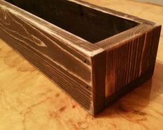 """Hand Made Rustic Flower Box - Table Centerpiece 24"""""""