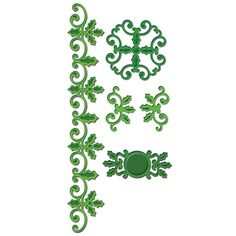 Spellbinders - Shapeabilities Collection - Christmas - Die Cutting and Embossing Templates - Holly Accents at Scrapbook.com