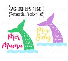 Share-fest. SVG Mermama and Merbaby cut files.
