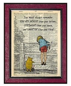 Hey, I found this really awesome Etsy listing at https://www.etsy.com/listing/168377282/winnie-the-pooh-2-home-decor-book-art