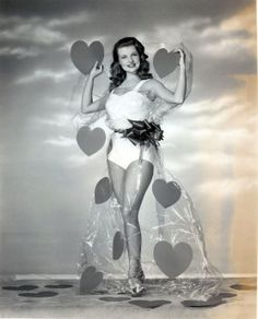 Vintage Valentine's Day Pin-Up - Mary Castle