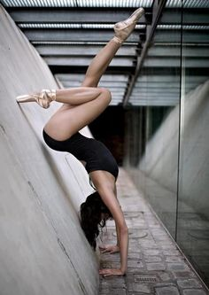 All I need is a wall, camera and my pointe shoes. Live this shot!