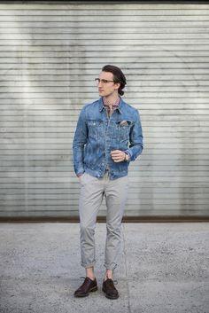 Marcel Floruss of One Dapper Street | modern mister wearing The Dart Jacket in Ignite