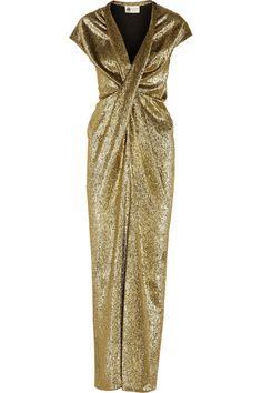Lanvin Draped silk-blend lamé gown #Lanvin