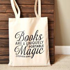 Bookaholic. Read. Books R Us. Book tote