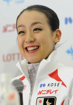Mao Asada all in big, gorgeous, happy smile, after winning her 3rd Nationals Championship, and a berth to her 1st Olympics in Vancouver 2010. During the final Press conference concluding the 2009 All Japan Nationals Figure Skating Championships in Namihaya Dome, 27th of Dec., 2009. ・ Photo by Sukagawa Ri