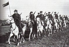 Pin by Paolo Marzioli. Polish cavalry on parade shortly before the outbreak of World War II. Although Poland did maintain cavalry through the beginning of the war - as did most other powers of the time - reports of lancers charging German armor were erroneous. (Sikorski...