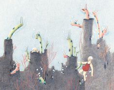 Illustration from 'Pool' by JiHyeon Lee