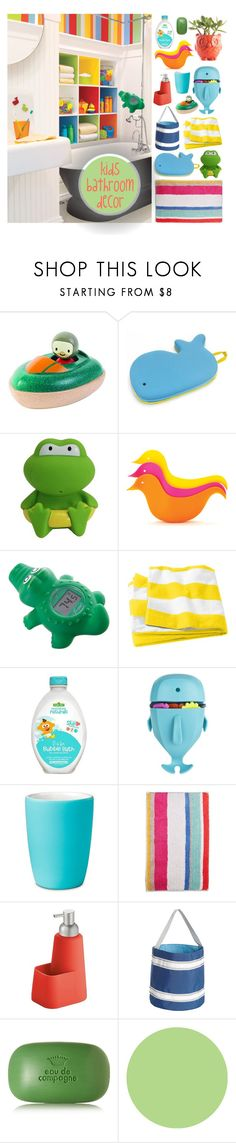 """""""colorful bathroom"""" by blumberg ❤ liked on Polyvore featuring PlanToys, Skip Hop, Dreambaby, Sesame Street, Room Essentials, Kate Spade, InterDesign, SailorBags, Sisley and Wall Pops!"""