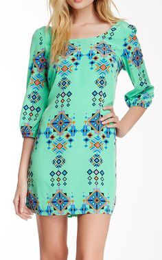 Pink Owl Zip Back Shift Dress. If it were knee length I would LOVE it!