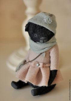 Купить Мишка.................. - чёрный, тедди мишка, мишки тедди, мишка ручной работы, мишка в подарок