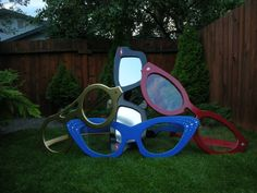 outdoor eyewear art piece.