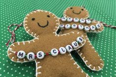 Your place to buy and sell all things handmade Gingerbread Man Decorations, Gingerbread Ornaments, Tree Decorations, Christmas Decorations, Gingerbread Cookies, Ugly Christmas Shirts, Christmas Pillow, Christmas Crafts, Ornaments Image