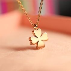 Clover Necklace Charm