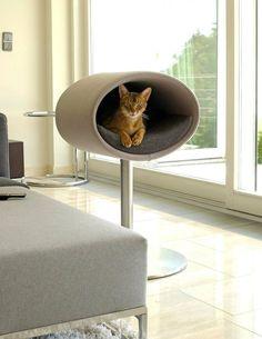 Rondo med filt er en moderne kattehule på fod.