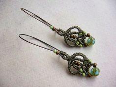 Ohrhänger - * Ohrhänger Makramée *  - ein Designerstück von crochet bei DaWanda