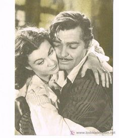 POSTAL CLARK GABLE Y VIVIEN LEIGH GONE WITH THE WIND