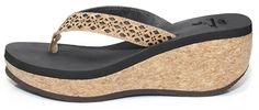 Cork Wedge Sandal - Black * You can find more details by visiting the image link.