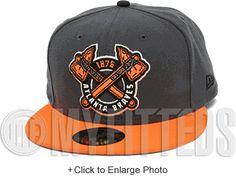 Atlanta Braves 1876 Carbon Graphite Grey Orangeade Black Metallic Silver New Era Hat