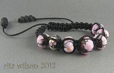 Handmade Lampwork Beaded Shambala Style by ritasbeaderynjewelry