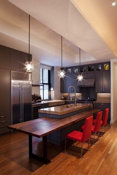 Love the wood tone granite for the counters