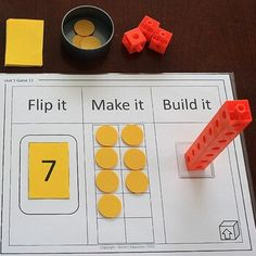 Kindergarten MATH Games: Counting to 10 by Holistic Education Kindergarten Math Activities, Preschool Learning, Teaching Math, Maths Eyfs, Math Classroom, Math For Kids, Fun Math, Les Mathes, Holistic Education