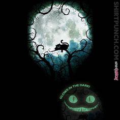 glow in the dark t-shirt | Cheshire cat