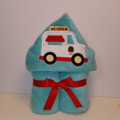 Personalized Towel Hoodie  Ice Cream Truck Hooded by grannydiane