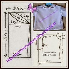 Juana Mª Checa Jiménez - Google+ Sewing For Kids, Baby Sewing, Baby Patterns, Sewing Patterns, Baby Kids, Baby Boy, Baby Embroidery, Baby Pants, Heirloom Sewing