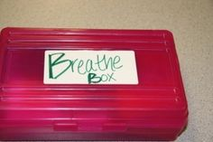 Here is a kit that you can make. You can call it whatever you would like. Two examples are breathe box and calming kit. Put in your favourite things that make you feel comfortable or calm you down. Keep it in your school bag and pull it out when you are starting to get anxious.  Thinking of making one of these for myself.