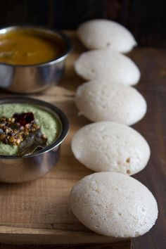 idli recipe - how to make soft idli - here with coconut chutney and sambar, South Indian food