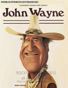 Caricature: John Wayne by Rocky J Sawyer  wittygraphy.com