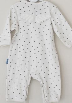 Angel Baby Grow with silver stars from www.bodieandfou.com
