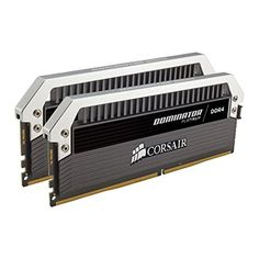 Corsair Dominator Platinum Series 16GB (2 x 8GB) DDR4 DRAM 3200MHz (PC4-25600) C16 Memory Kit  Product Details • Hand Screened Performance IC's • DHX cooling • Customizable light bar • Performance and Compatibility • Corsair Link compatibility