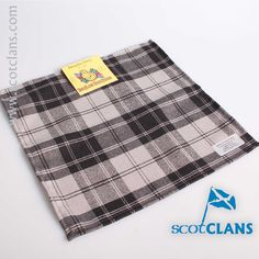 Douglas Grey Tartan Pocket Square. Free worldwide shipping available