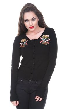 Zombie Burger Psychobilly Cardigan | RK Edge, Home of Psychobilly Fashion Clothing