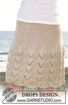 "Ravelry: 118-14 skirt with lace pattern in ""Muskat"" pattern by DROPS design"